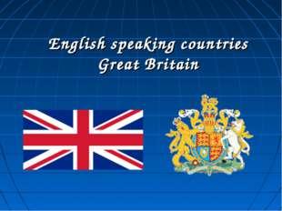 English speaking countries Great Britain