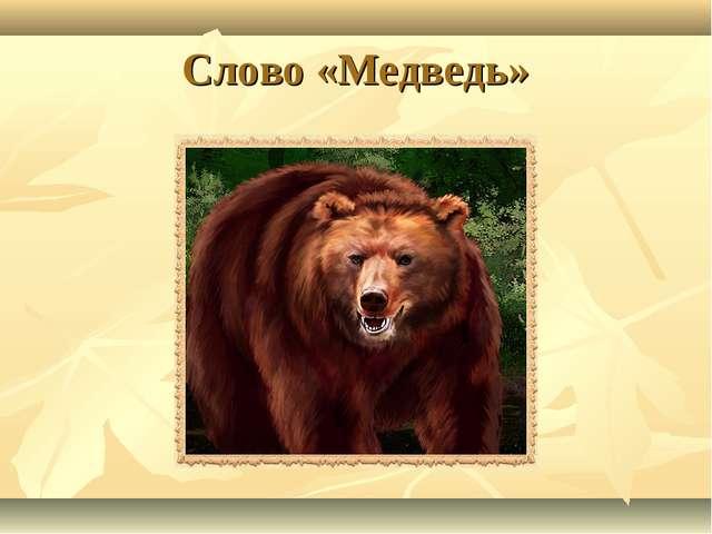 Слово «Медведь»