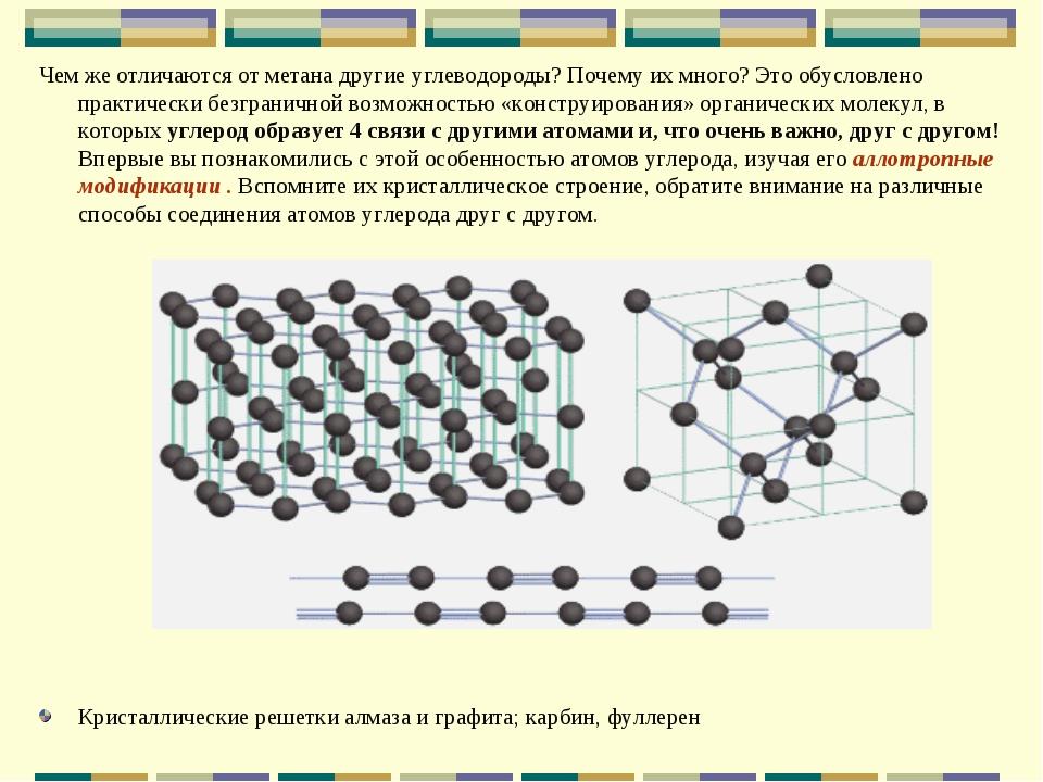 Чем же отличаются от метана другие углеводороды? Почему их много? Это обуслов...