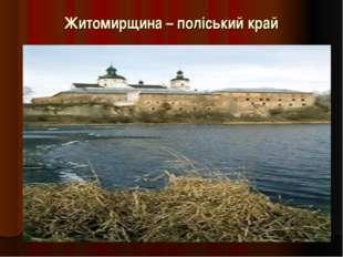 Житомирщина – поліський край