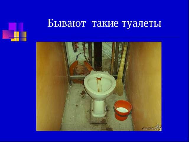 Бывают такие туалеты