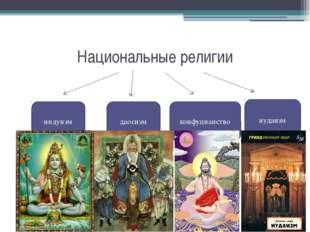 Национальные религии индуизм даосизм конфуцианство иудаизм