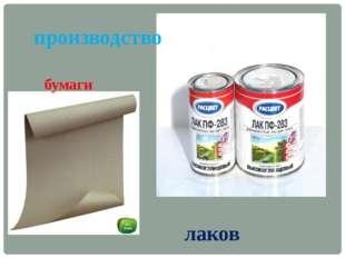 производство бумаги лаков
