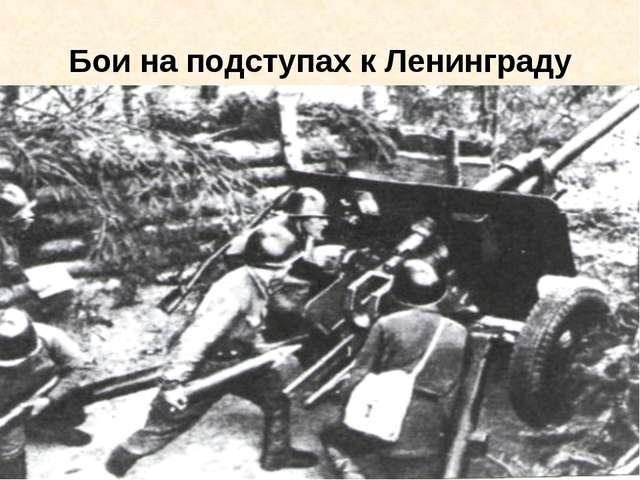 Бои на подступах к Ленинграду