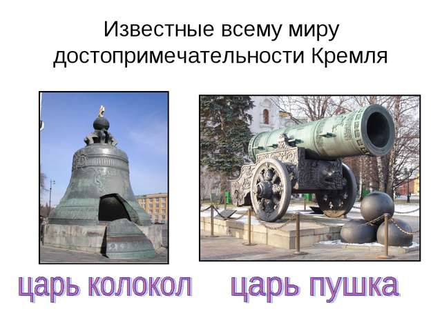 Известные всему миру достопримечательности Кремля