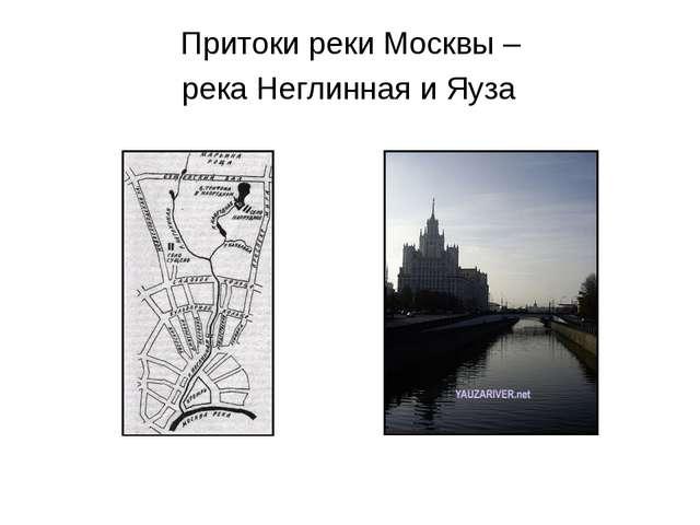 Притоки реки Москвы – река Неглинная и Яуза