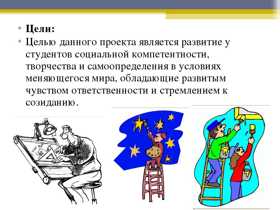 Цели: Целью данного проекта является развитие у студентов социальной компетен...
