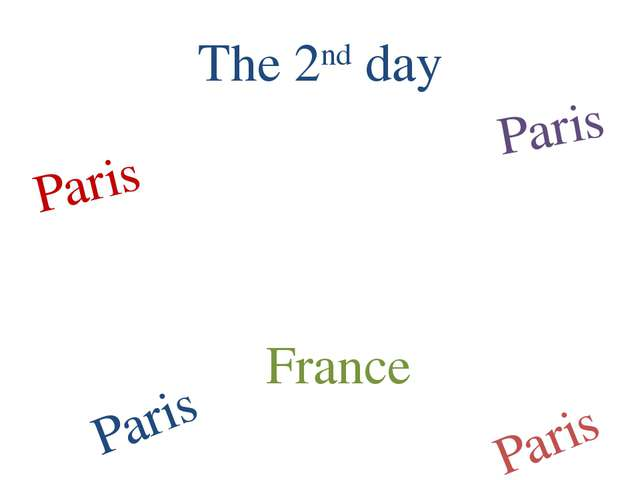The 2nd day Paris Paris Paris Paris France
