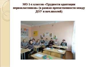МО 1-х классов «Трудности адаптации первоклассников» (в рамках преемственност