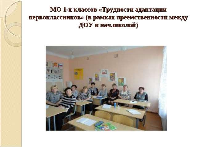 МО 1-х классов «Трудности адаптации первоклассников» (в рамках преемственност...