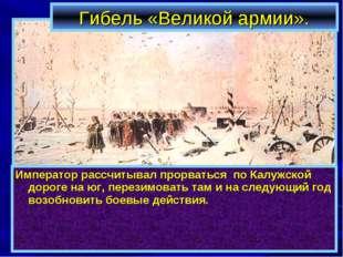 Гибель «Великой армии». Император рассчитывал прорваться по Калужской дороге