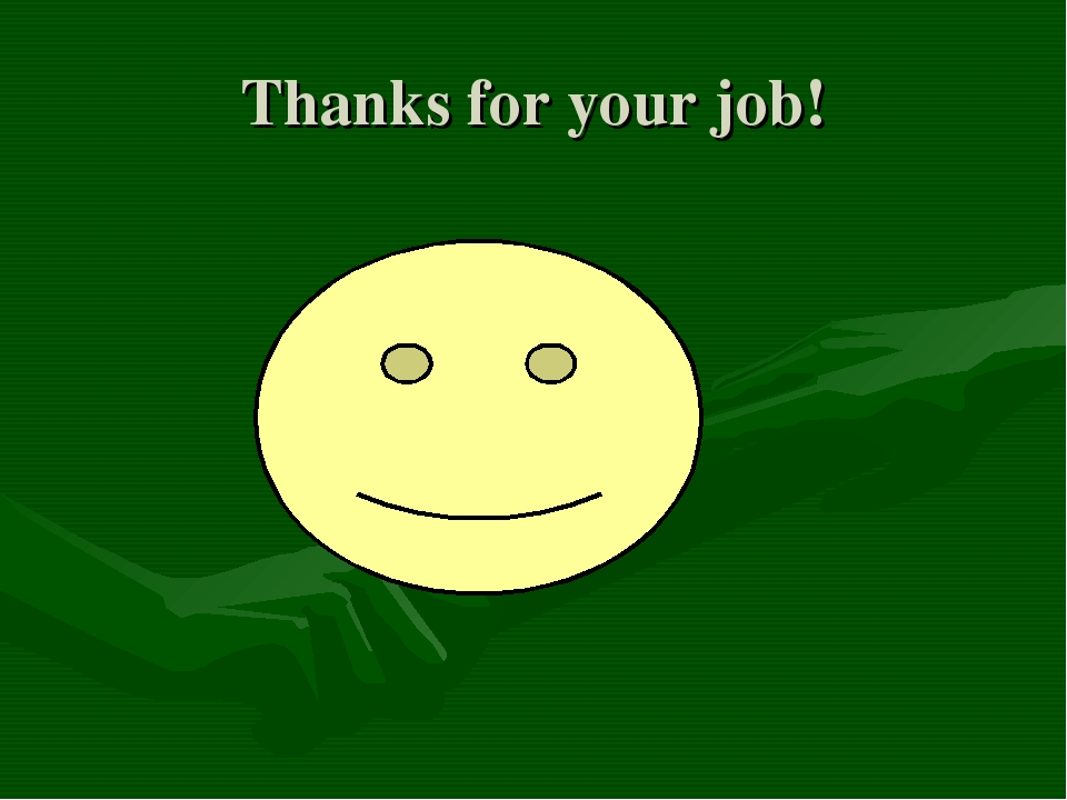 Thanks for your job!