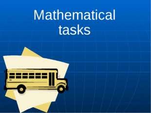 Mathematical tasks