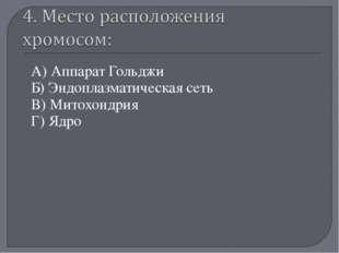 А) Аппарат Гольджи Б) Эндоплазматическая сеть В) Митохондрия Г) Ядро «Мой уни