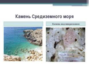 Камень Средиземного моря Камень под микроскопом