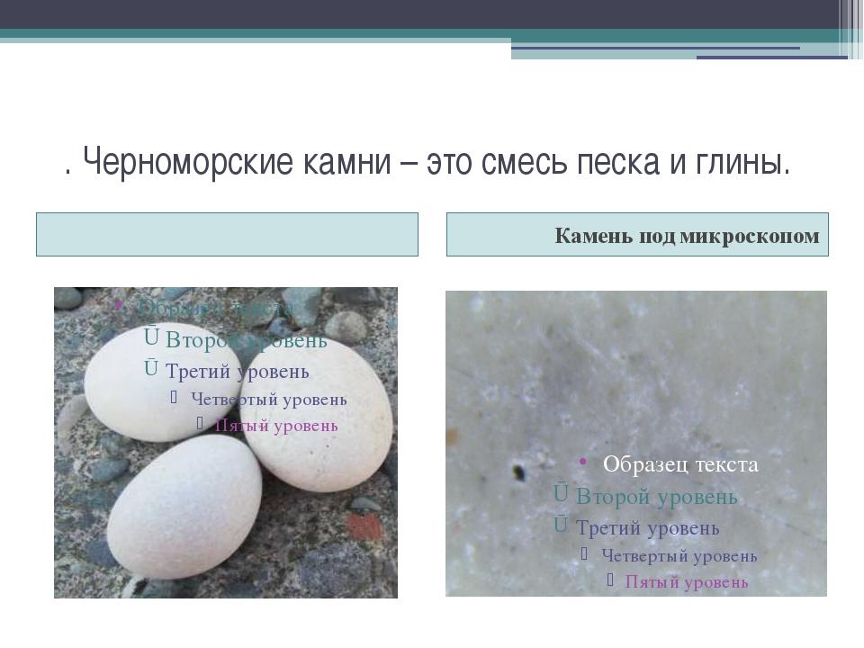 . Черноморские камни – это смесь песка и глины. Камень под микроскопом