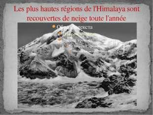 Les plus hautes régions de l'Himalaya sont recouvertes de neige toute l'année