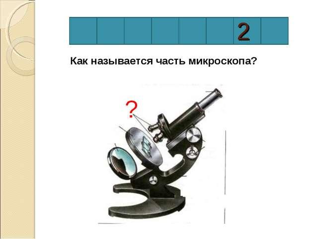 2 Как называется часть микроскопа? ?