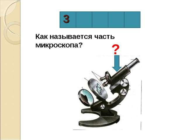 3 Как называется часть микроскопа? ?