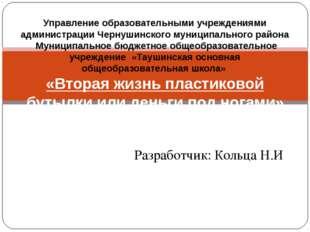 Разработчик: Кольца Н.И Бизнес-проект Управление образовательными учреждениям