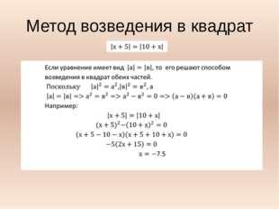 Метод возведения в квадрат