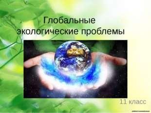 Глобальные экологические проблемы 11 класс Колькова Елена Николаевна, учитель