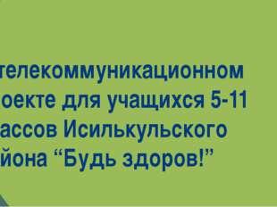 В телекоммуникационном проекте для учащихся 5-11 классов Исилькульского райо