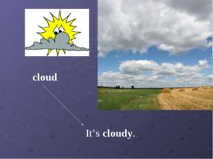 It's cloudy. cloud