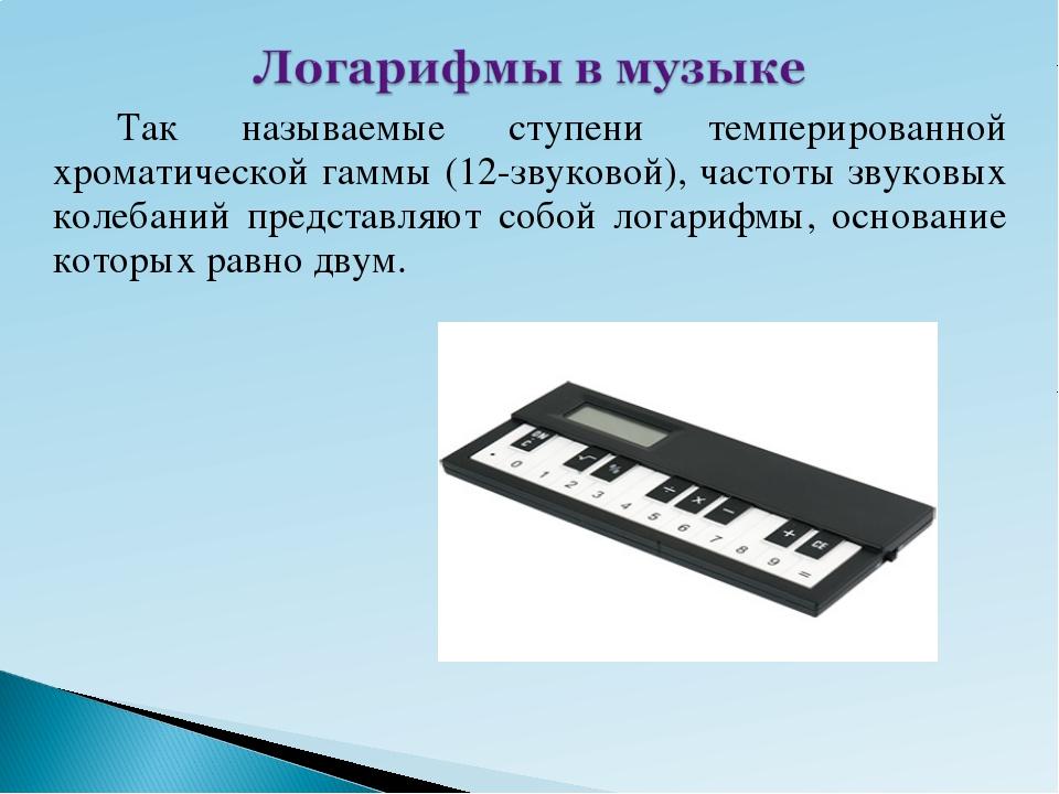 Так называемые ступени темперированной хроматической гаммы (12-звуковой), ч...