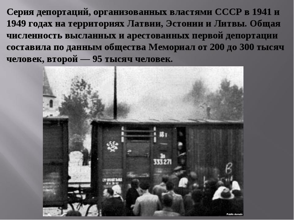 Серия депортаций, организованных властями СССР в 1941 и 1949 годах на террито...