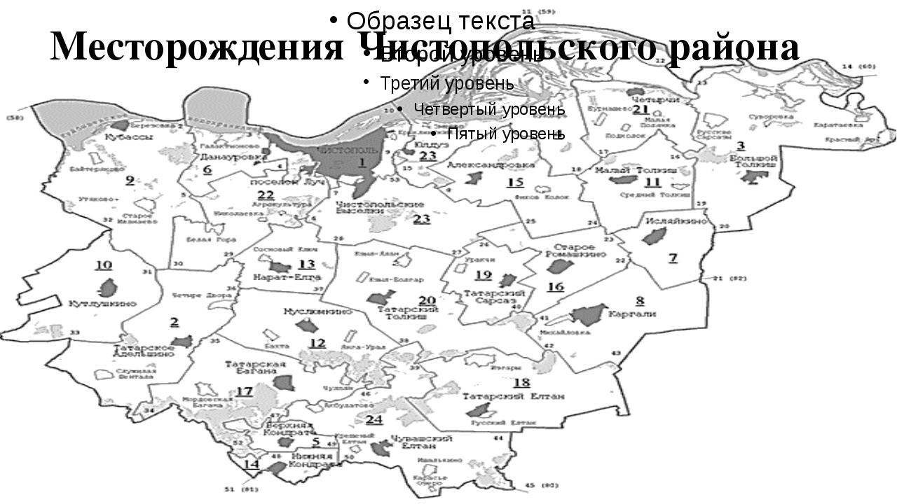 Месторождения Чистопольского района