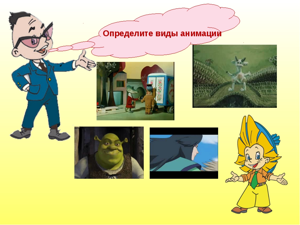 Определите виды анимации