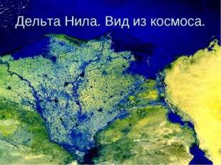 Дельта Нила. Вид из космоса.
