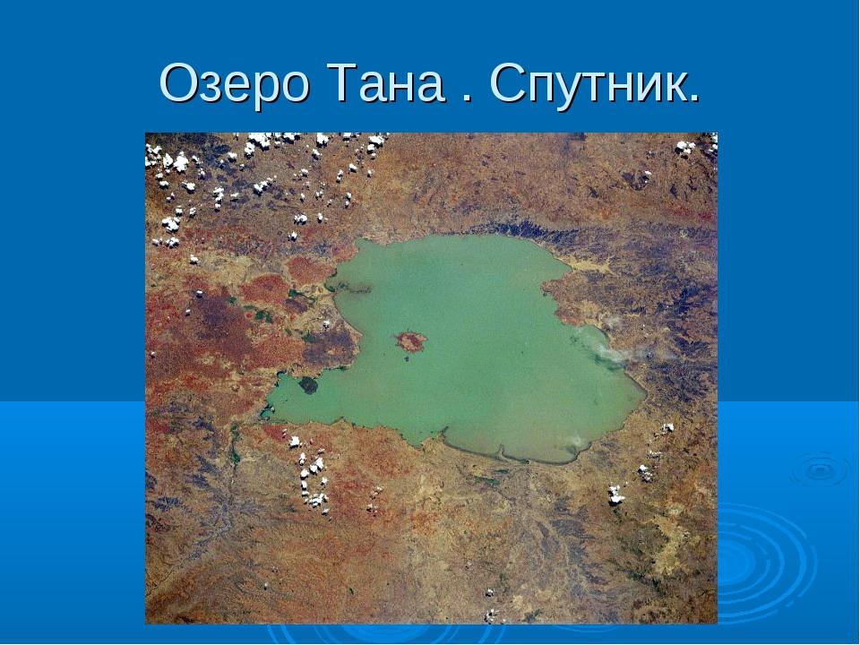 Озеро Тана . Спутник.