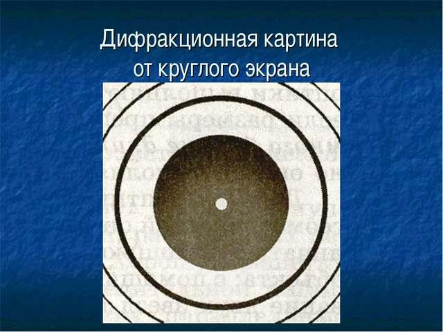 Дифракционная картина от круглого экрана