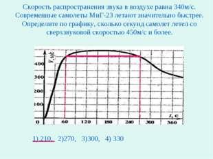 Скорость распространения звука в воздухе равна 340м/с. Современные самолеты М