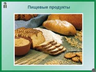 Пищевые продукты Для того чтобы любой живой организм нормально функционирова