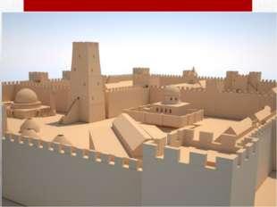 Крепость была построена в виде прямоугольника длиной 186 м и шириной 126 м. К