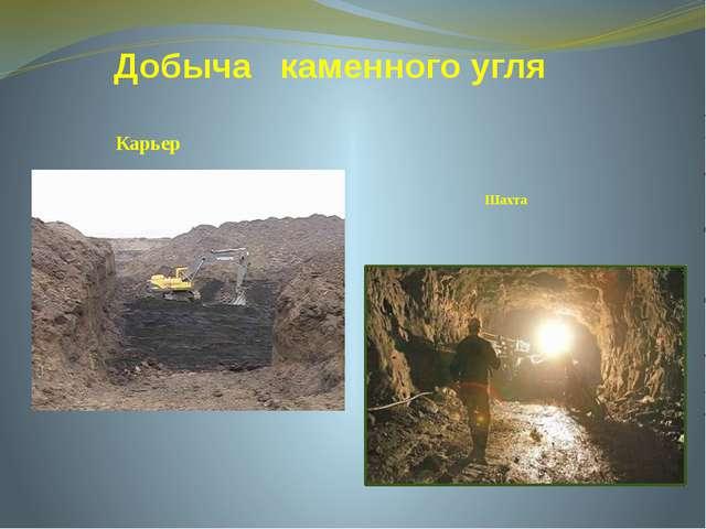 Добыча каменного угля Шахта Карьер