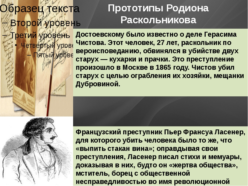 Прототипы Родиона Раскольникова Достоевскому было известно о деле Герасима Чи...