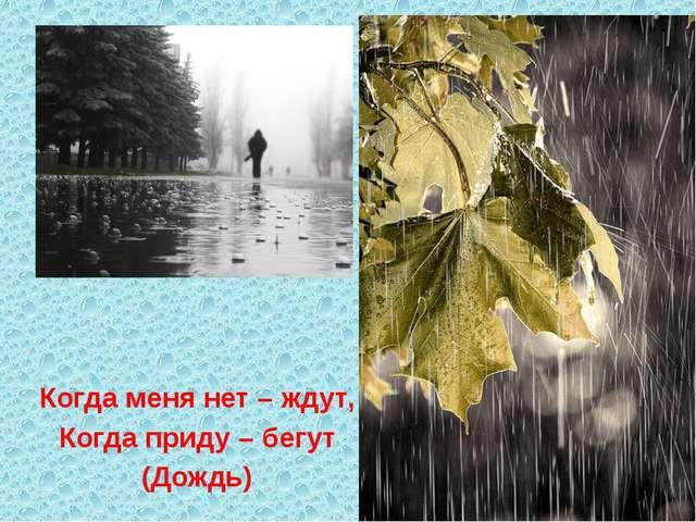 Когда меня нет – ждут, Когда приду – бегут (Дождь)