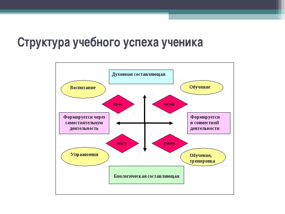 Структура учебного успеха ученика