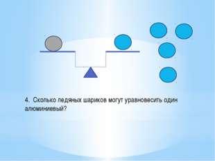 4. Сколько ледяных шариков могут уравновесить один алюминиевый?