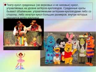 Театр кукол срединных (не верховых и не низовых) кукол, управляемых на уровне