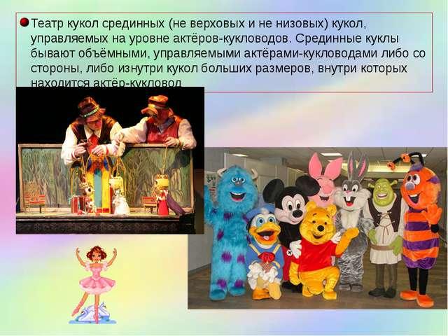 Театр кукол срединных (не верховых и не низовых) кукол, управляемых на уровне...