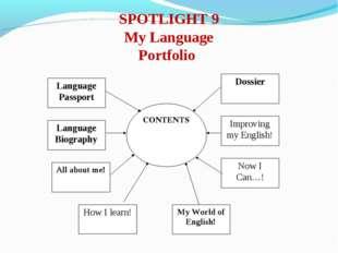 SPOTLIGHT 9 My Language Portfolio