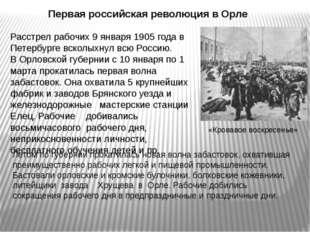 Первая российская революция в Орле Летом по губернии прокатилась новая волна