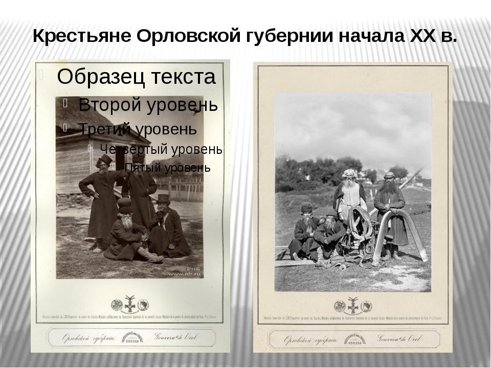 Крестьяне Орловской губернии начала XX в.