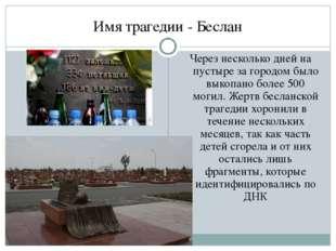 Имя трагедии - Беслан Через несколько дней на пустыре за городом было выкопан