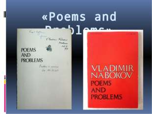«Poems and Problems»